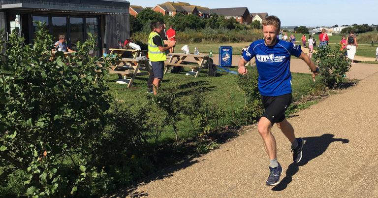 Adrian Scott of Brighton StorageMart running a marathon