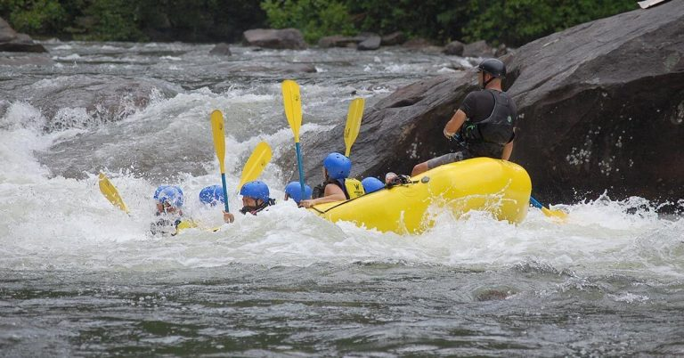 A white-water rafting trip in Banff National Park