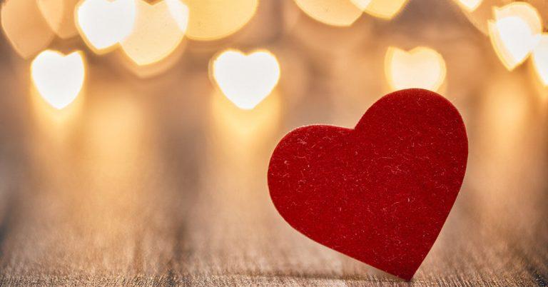 A felt Valentines Day heart