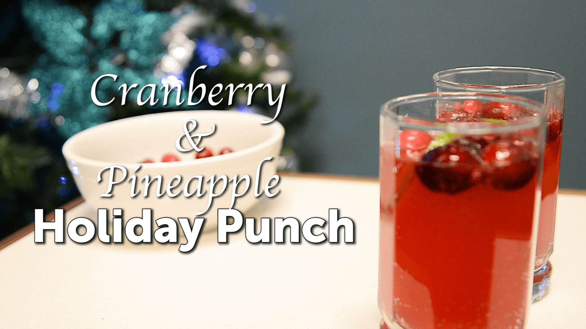 Perfect Holiday Punch for New Year's Toast