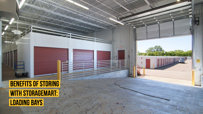 Loading bays making loading your self storage unit much easier.