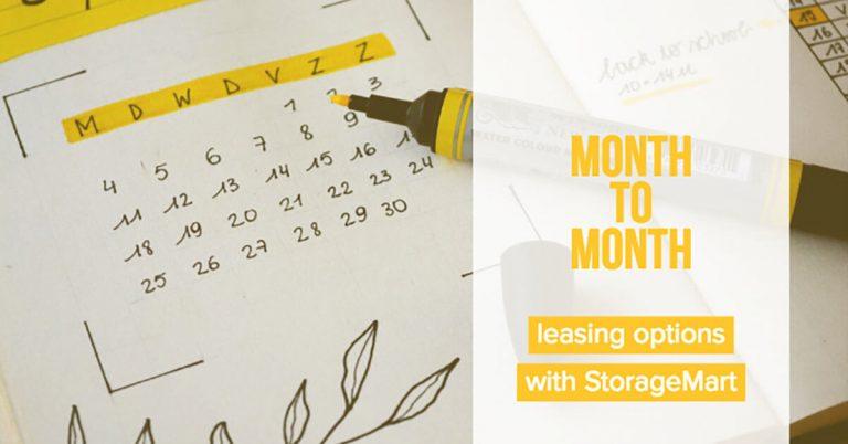 StorageMart offers month to month storage leasing