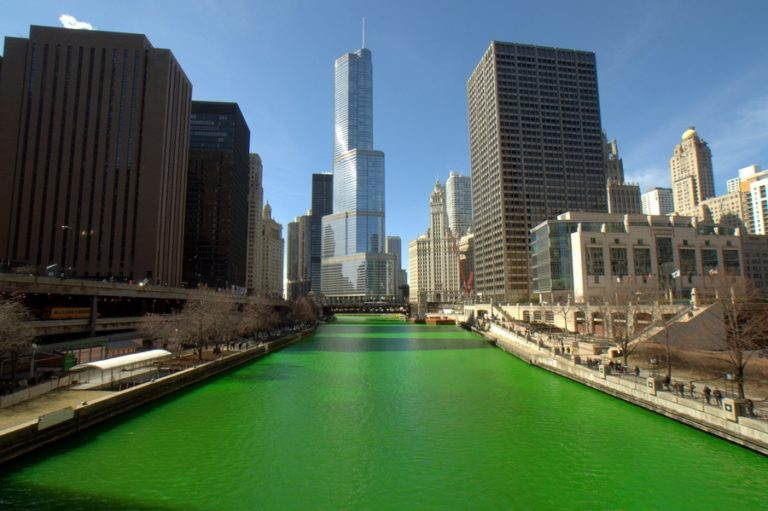 They go big in Chicago for Saint Patrick's Day by dying the river green.