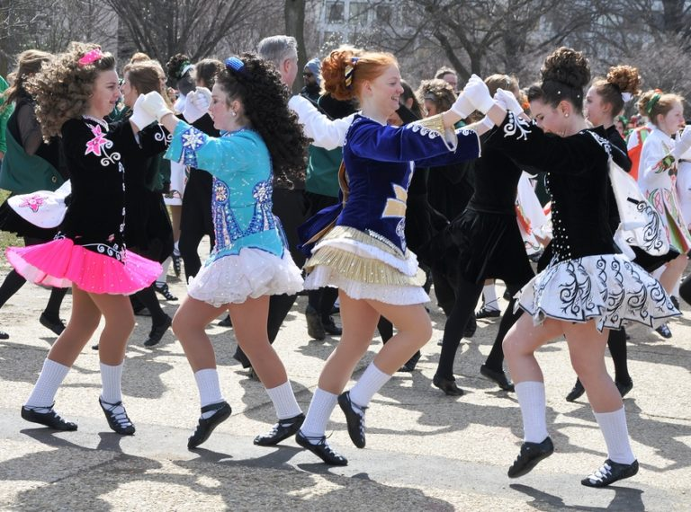 A group of young Irish dancers.