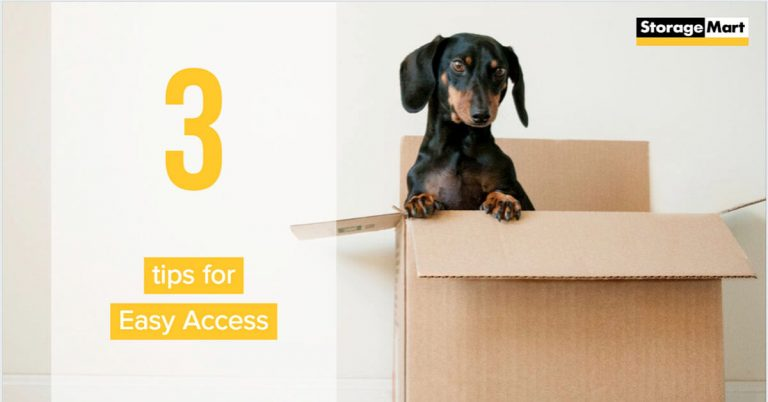3 quick tips for easy access to storage.