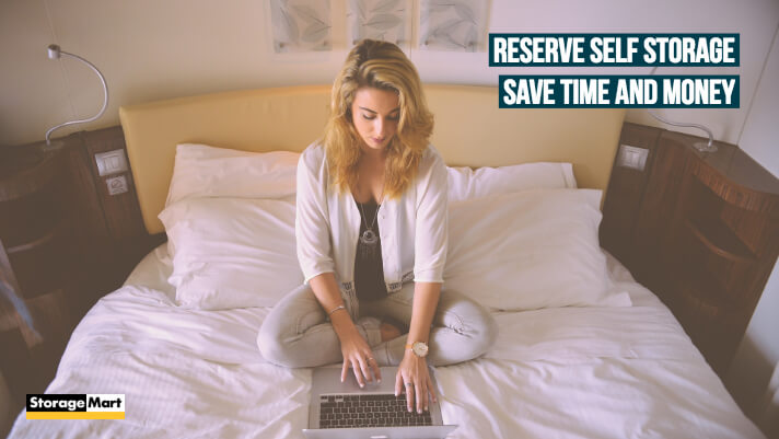 Save time and money by reserving storage online