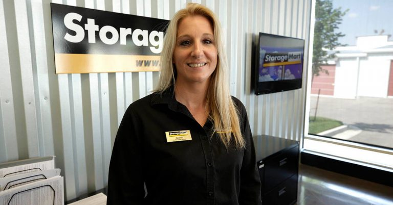 Image of a StorageMart sales manager in her store.