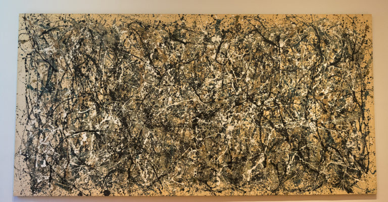 An abstract painting by Jackson Pollock