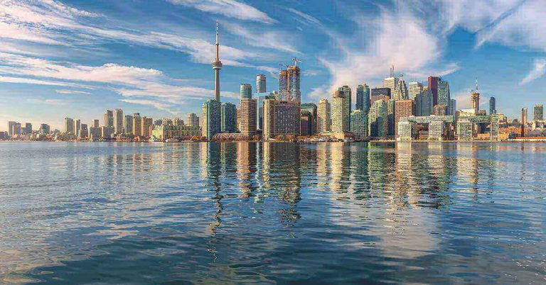 A view of Toronto from the lake.