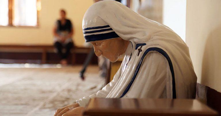 A statue of Mother Teresa