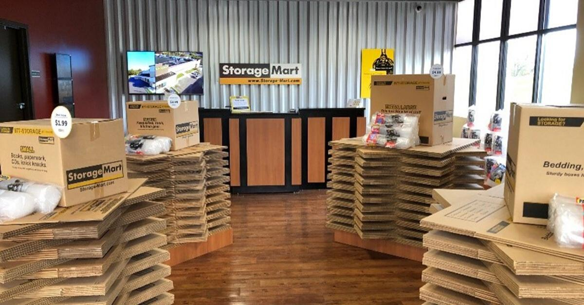 boxes for sale at StorageMart